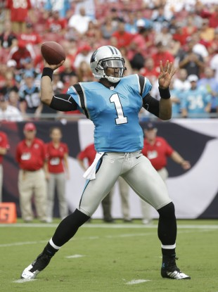 Cam Newton will hope to bounce back from a week one loss in the NFL this weekend.