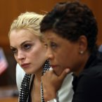 Lohan appears at a hearing at a Beverly Hills court (after showing up an hour late) alongside her attorney, Shawn Chapman Holley for a progress report stemming from a 2007 drunken driving case. Her probation was extended for another year and she is told she must attend alcohol counselling. Pic: AP Photo/Nick Ut