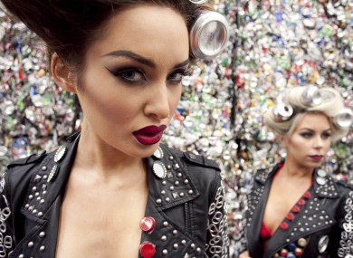 Models Roz Purcell and Tiffany Stanley, marking the launch of Repak Recycling Week 2012.
