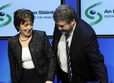 Roisin Shortall and James Reilly: it wasn't a joint comedy award.