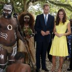 The Duke and Duchess of Cambridge visit the Cultural Village in the Solomon Islands ( Danny Lawson/PA Wire)