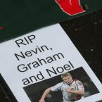 Tributes are laid at Ravenhill in memory of the young star, who died alongside his brother Graham and father Noel.