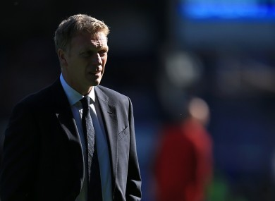 David Moyes at Goodison yesterday.