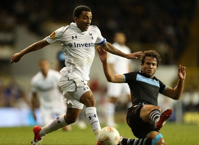 Spurs' Aaron Lennon was one of the players targeted by the away fans.