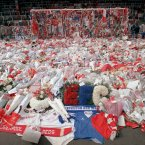 Flowers at Anfield (Photo: AP Photo/Peter Kemp)