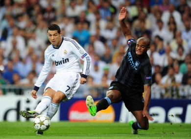 Ronaldo leaves Kompany for dead.