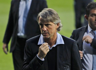 Mancini was not happy with Hart after he criticised his teammates.