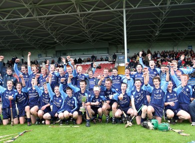 The St Brigid's (Loughrea) team celebrating their 2011 All-Ireland Vocational SAHC triumph.
