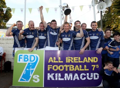 The St Gall's team celebrating last weekend's FBD 7's triumph.