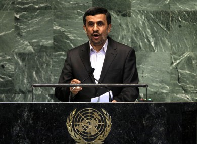 Mahmoud Ahmadinejad said politicians in other countries supported homosexuality merely to win 