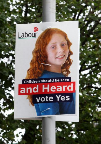 11/10/2012. Childrens Referendum Campagin Posters.