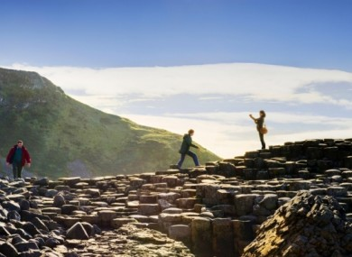 The geological wonder of the Giant's Causeway in Co Antrim.