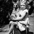 A young Australian girl with her pet kangaroo in 1951 (S&G Barratts/EMPICS Archive)