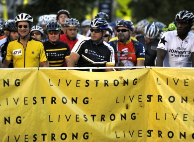 ke riders wait at the starting gate at the Livestrong Challenge Austin last weekend.