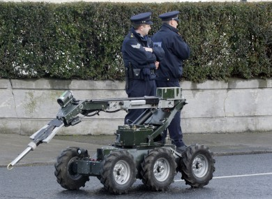 A file photo of a robot used by the army bomb disposal unit.