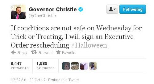Chris Christie halloween