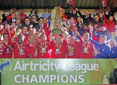 Sligo lift the trophy
