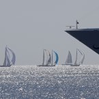 Classic yachts sails in the bay of Cannes, southeastern France, during the 34th Royal Regatta of Cannes. The Royal Regatta brings more than 100 yachts into the bay of Cannes. (AP Photo/Lionel Cironneau)