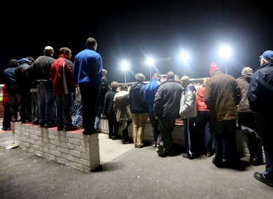 Fans clamber to get a view at the Showgrounds.