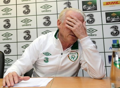 Giovanni Trapattoni does not want to linger on Ireland's record defeat.