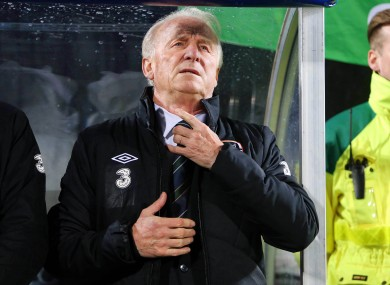 Republic of Ireland manager Giovanni Trapattoni will continue as manager for now.