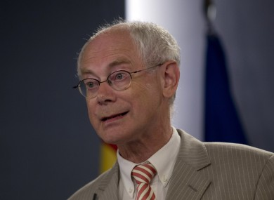 Nobel Prize winner Herman van Rompuy. Yes, a Nobel prize winner.