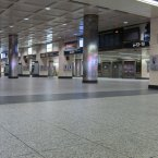 The LIRR concourse at Penn Station. More spacious than usual. (Metropolitan Transportation Authority / Aaron Donovan)