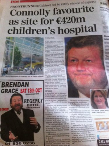 ironic james reilly ad placement