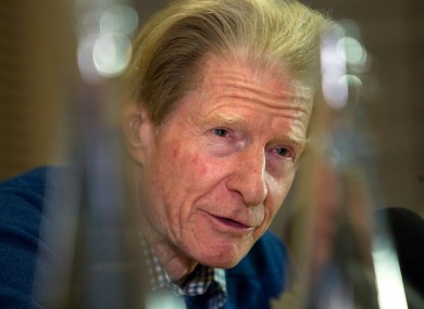 Sir John Gurdon at a press conference in central London after the announcement that he had been awarded the Nobel Prize for Medicine.
