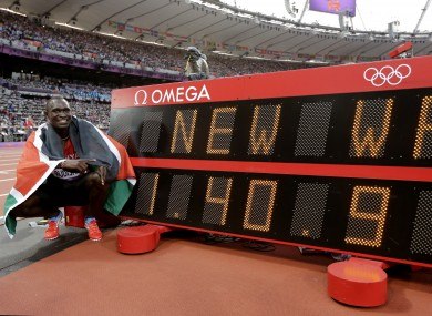David Rudisha, one of Brother Colm O'Connell's star protégés, celebrates his Olympic gold and world record.