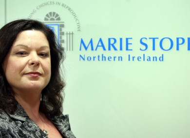 Dawn Purvis, programme director with Marie Stopes Northern Ireland, in her new Belfast office in the city centre.