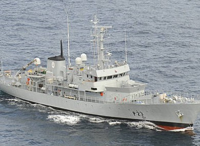 A Defence Forces ship (File photo)