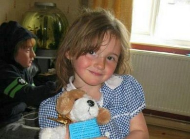 April Jones, 5, was last seen playing with friends on Monday evening.
