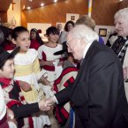 President Higgins with Fr Pat Egan, visiting the Columbian Fathers' Parish in Punte Alto, Santiago, Chile (Photo Chris Bellew/Fennell Photography)