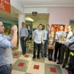 Kilkenny's Richie Hogan takes a picture of teammates and hospital staff.