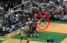 A 6th player ran onto the court during overtime of an NBA playoff game in '93, and no one noticed until now
