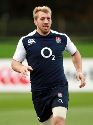 Chris Robshaw in training today.