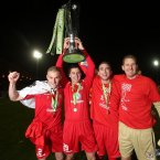 Sligo players with the trophy.