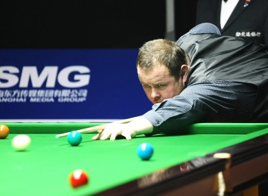 Stephen Lee of England plays a shot during a recent match.