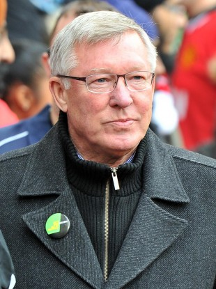 Alex Ferguson before yesterday's Premier League fixture with Stoke.