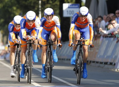 Rabobank riders in action this summer.