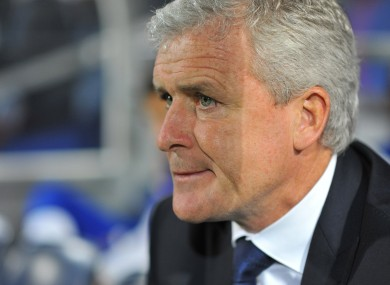 Pressure: Queens Park Rangers' manager Mark Hughes.