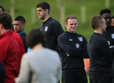 Rooney at the new facility yesterday.