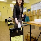 The Ombudsman for Children, Emily Logan casts her vote in the Children's Referendum in Fairview in Dublin. Photo: Laura Hutton/Photocall Ireland