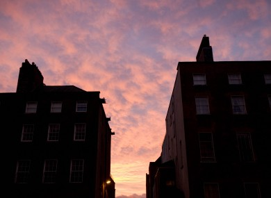 Sunrise in Dublin earlier this week