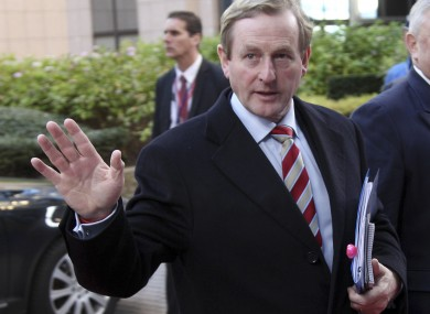 Taoiseach Enda Kenny arriving in Brussels yesterday