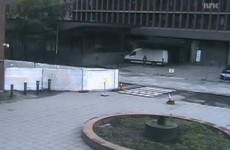 CCTV footage shows Anders Breivik parking van at explosion scene