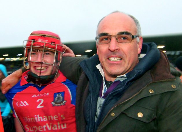 Cathal Burke is congratulated by Anthony Cunningham 18/11/2012