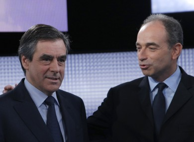 Francois Fillon (left) and Jean-Francois Cope both believe they have been elected to succeed Nicolas Sarkozy at the UMP.