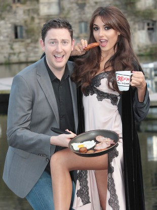 Ray Foley, lovely girl Nadia Forde, and a sausage. 